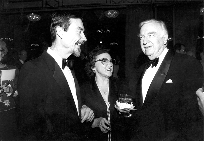 Carver with Walter Cronkite